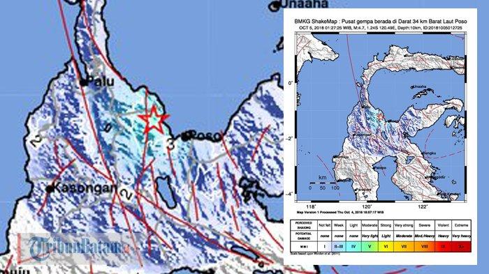 INFO GEMPA HARI INI - BMKG Catat Gempa Magnitudo 4,7 Guncang Poso Jumat Dinihari. Terasa di Palu