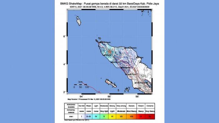 Gempa Hari Ini 2021, Gempa Mag 4,9 Guncang Aceh Jumat Pagi, Simak Info BMKG