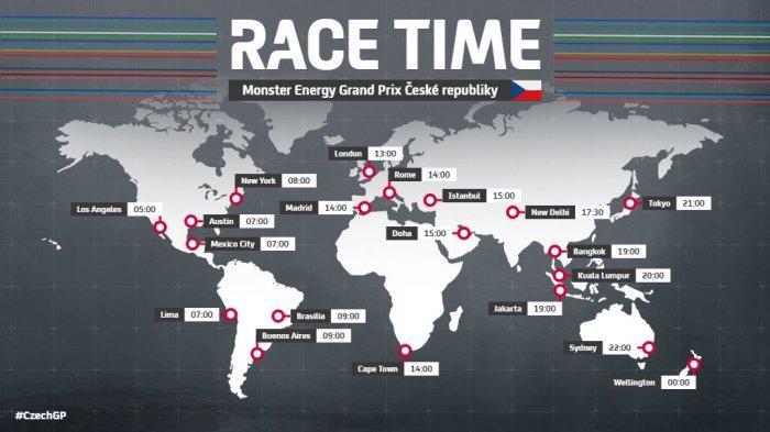 Race Day MotoGP Ceko Pukul 19.00 WIB Live Trans7, 2 Perancis Paling Depan, Valentino Rossi No 10
