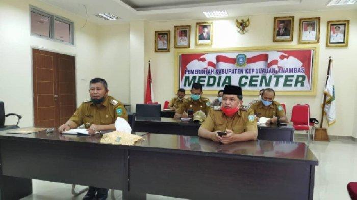 Rapat koordinasi Bupati Anambas Abdul Haris bersama Wan Zuhendra, Rabu (21/4/2021).
