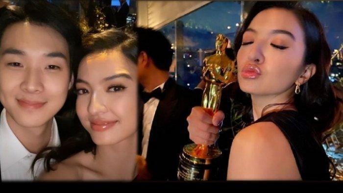 Foto dan Video Kedekatan Raline Shah dengan Pemain dan Kru Film Parasite di Piala Oscar 2020