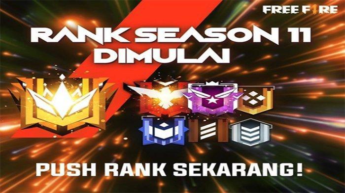 Rank Season 10 Berakhir, Login dan Push Rank Season 11 Free Fire Mulai Hari Ini Senin (26/8)