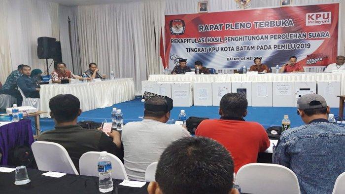 Hasil Pleno KPU Batam Jokowi-Maruf AminUnggul, Saksi Parpol Protes DPT