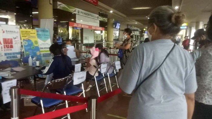 Layanan Rapid Antigen di Bandara Hang Nadim, Senin (21/12/2020).