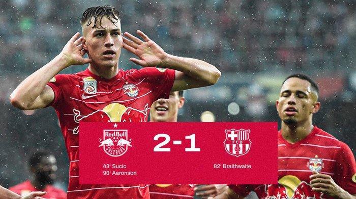 Hasil RB Salzburg vs Barcelona, Brenden Aaronson Cetak Gol Jelang Akhir Laga, Barcelona Kalah