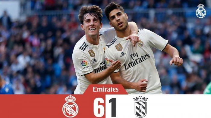 Hasil Copa Del Rey Real Madrid vs Melilla - Real Madrid Pesta Enam Gol ke Gawang Melilla, Isco 2 Gol