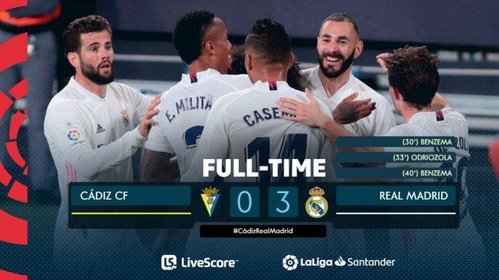 Hasil, Klasemen, Top Skor Liga Spanyol Setelah Real Madrid Menang, Villarreal Kalah, Benzema 21Gol
