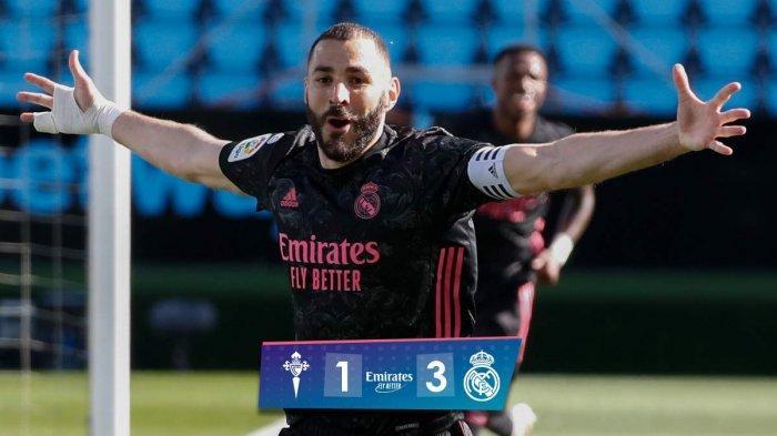 Hasil Celta Vigo vs Real Madrid - Real Madrid menang telak 3-1 atas Celta Vigo di pekan 28 Liga Spanyol, Sabtu (20/3/2021) malam WIB