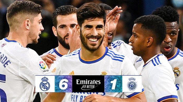 Hasil Real Madrid vs Mallorca, Asensio Hattrick, Benzema 2 Gol, Real Madrid Menang