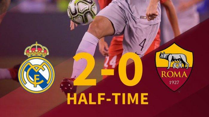 Hasil Babak Pertama Real Madrid vs AS Roma - Asensio & Gareth Bale Cetak Gol. Madrid Unggul 2-0