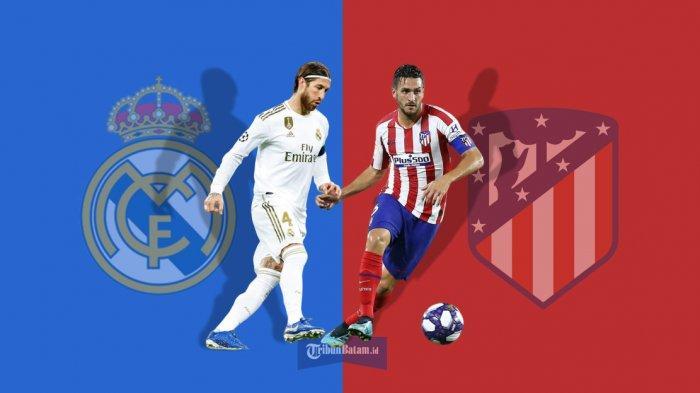 Jadwal La Liga Spanyol Real Madrid vs Atletico Madrid Live beIN Sport 1 Sabtu (1/2) Jam 22.00 WIB
