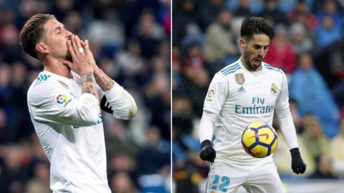 Real Madrid Genting! Ramos Kabarnya Pukul Isco di Ruang Ganti. Ini Komentar Zidane