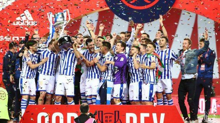 Hasil Final Copa del Rey Athletic Bilbao vs Real Sociedad, Oyarzabal Cetak Gol, Real Sociedad Juara