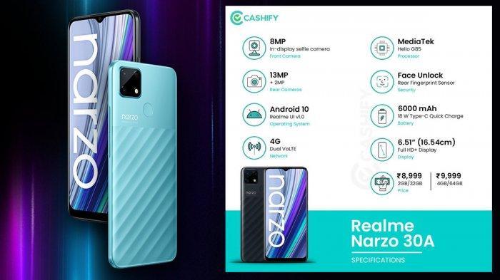 Spesifikasi Realme Narzo 30A, Smartphone Baru Realme yang Akan Launching Rabu Besok