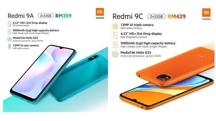 Resmi Dirilis, Ini Spesifikasi Lengkap Redmi 9A dan Redmi 9C