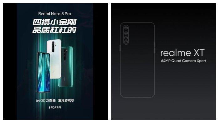 Redmi dan Realme Bersaing Luncurkan Hape Terbaru, Realme XT vs Redmi Note 8 Pro, Ini Penampakannya