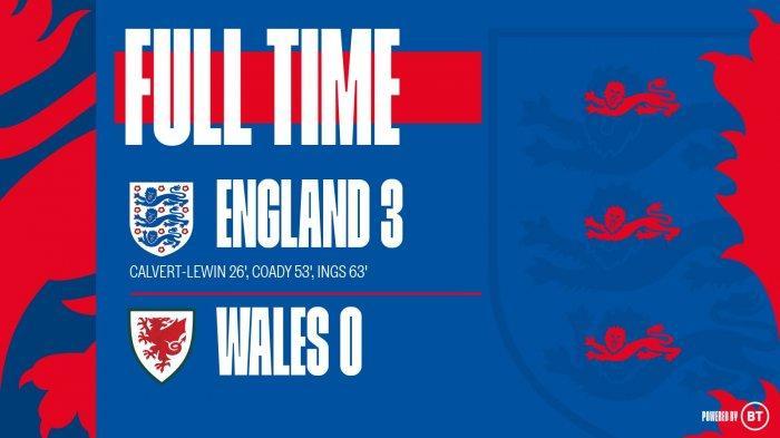 Hasil Inggris vs Wales, Dominic Calvert-Lewin Debut dan Cetak Gol, Inggris Menang 3-0