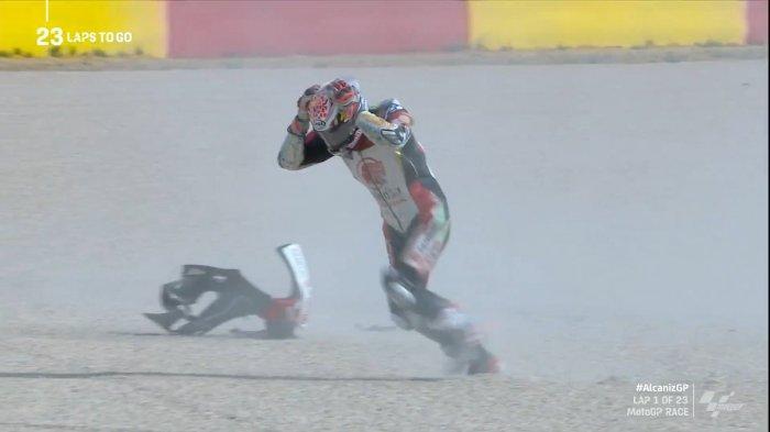MotoGP Teruel 2020, Terjatuh dan Gagal Finish, Takaaki Nakagmi: Tekanan Pole Position Luar Biasa