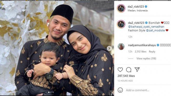 Rizki DA foto bareng Nadya Mustika dan Syaki Ramadhan.