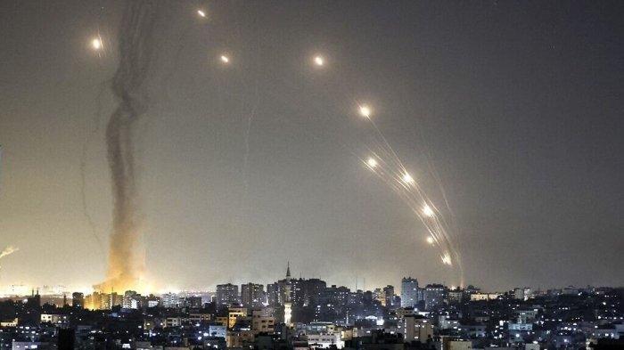 Pertempuran Terbesar, Balas Roket Hamas Militer Israel Ratakan Bangunan Bertingkat di Gaza