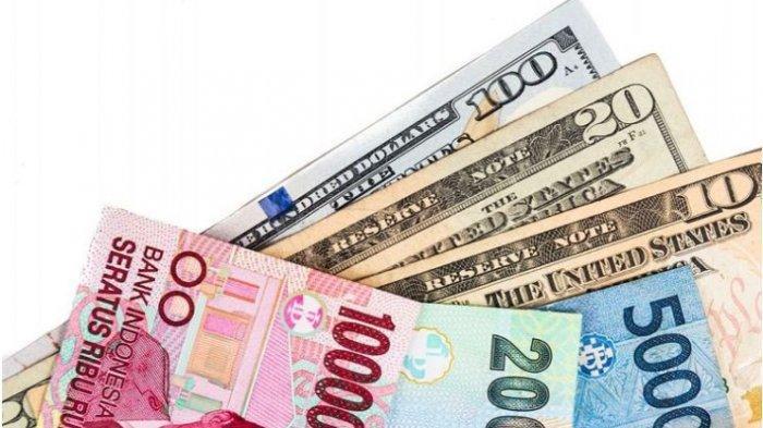 RUPIAH HARI INI - Ditutup  Melemah 0,15%, Rupiah di Level Rp 14.100 per dolar AS
