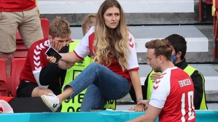 Siapa Sabrina Kvist Jensen? Terlihat Menangis saat Christian Eriksen Pingsan di Laga EURO 2020