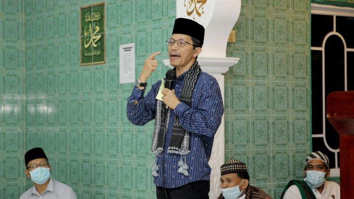 Safari Ramadhan Wakil Wali Kota Batam Amsakar Achmad di Kecamatan Belakang Padang, Sabtu (24/4/20210.