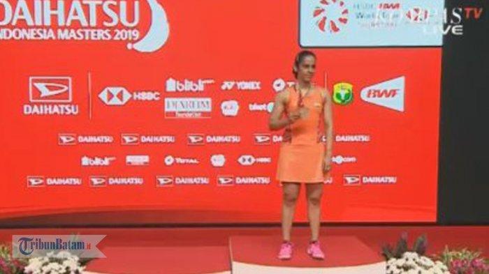 HASIL FINAL INDONESIA MASTER 2019 - Carolina Marin Cedera, Saina Nehwal Juara Tunggal Putri