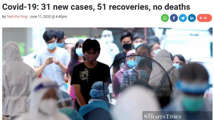 Malaysia Akan Nyatakan Bebas Corona Jika 28 Hari Berturut-turut Tidak Ada Tambahan Kasus Baru