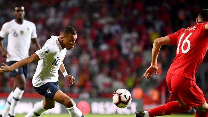 SEDANG BERLANGSUNG Live Streaming Prancis vs Turki Kualifikasi Euro 2020, Mulai 01.45 WIB