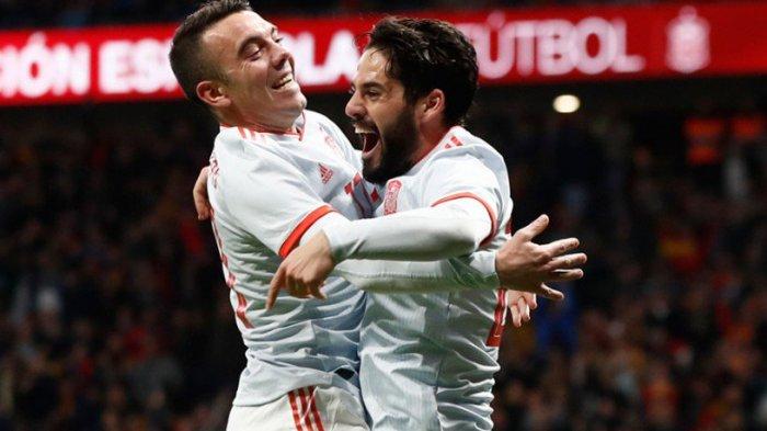 Spanyol vs Argentina - Tanpa Messi Argentina Tak Berdaya. Dikalahkan Spanyol 6-1. Isco Hattrick