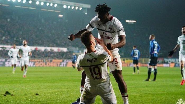 Hasil Liga Italia - Dua Gol Krzysztof Piatek Bawa AC Milan Taklukan Atalanta 3-1