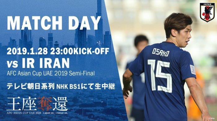 ASIAN CUP 2019- Jadwal & Link Live Streaming Semifinal Piala Asia 2019 Iran vs Jepang, Jam 21.00 WIB