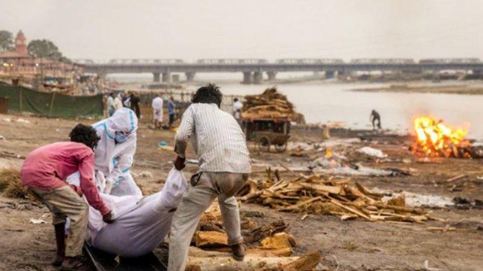 Warga India Putus Asa Hadapi Corona? Buang ke Sungai Jenazah Diduga Terinfeksi Covid-19