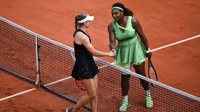 Hasil Prancis Open 2021, Elena Rybakina Singkirkan Serena Williams, Victoria Azarenka Juga Kalah