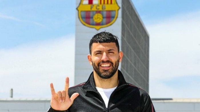 RESMI Barcelona Dapatkan Sergio Aguero Secara Cuma-cuma, Dikontrak Selama 2 Tahun