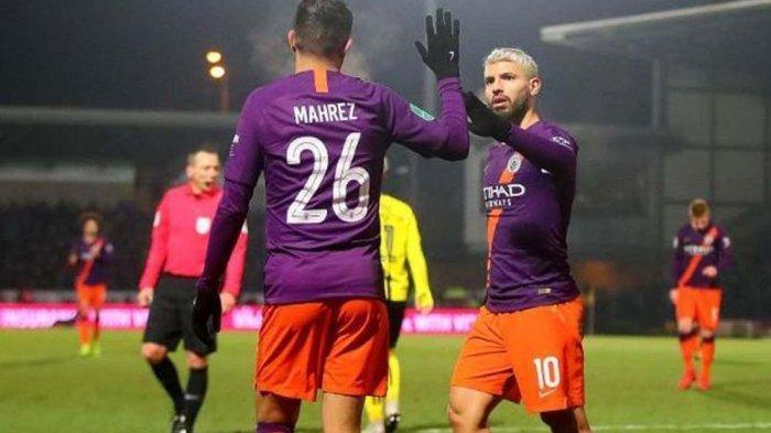 Hasil Piala FA - Comeback Sempurna Manchester City. Sempat Dicadangkan, Aguero Jadi Kunci 3 Gol
