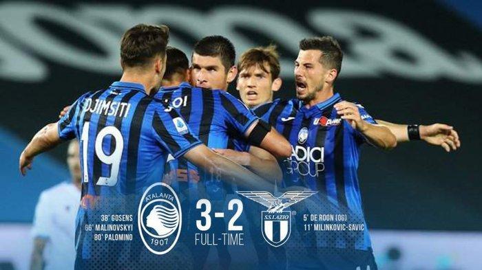 Hasil Liga Italia Atalanta vs Lazio, Atalanta Menang dalam Drama 5 Gol, Lazio Gagal Dekati Juventus