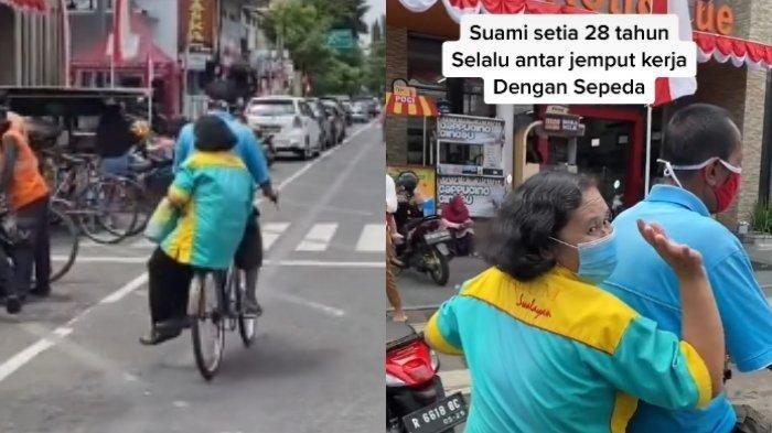 Kisah Suami Selalu Antar Jemput Istri Pakai Sepeda selama 28 Tahun