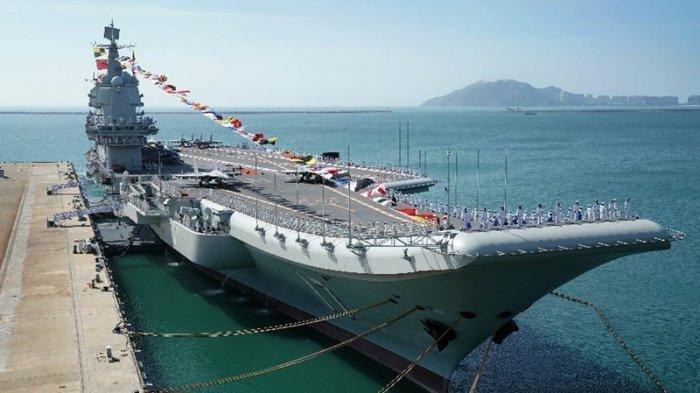 Shandong, kapal induk pertama Angkatan Laut China yang dibuat di dalam negeri.