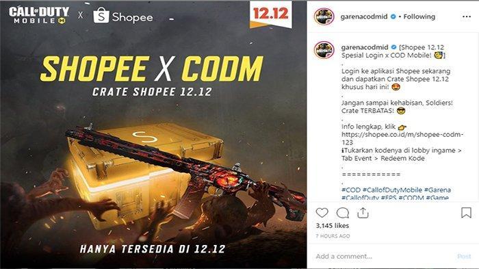 Login dan Main Call of Duty Mobile Sekarang, Dapatkan Senjata dan skin Gratis dari Shopee