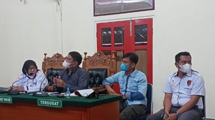 Sidang lanjutan praperadilan kasus Narkoba Purma Handika melawan Polres Karimun di PN Karimun, Selasa (24/8).