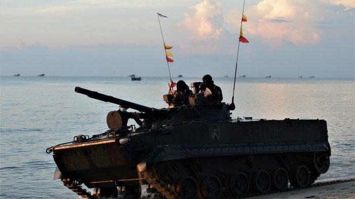 Prajurit TNI AL Terlibat 'Pertempuran' di Lingga, Rebut Pantai Todak Dalam Hitungan Menit