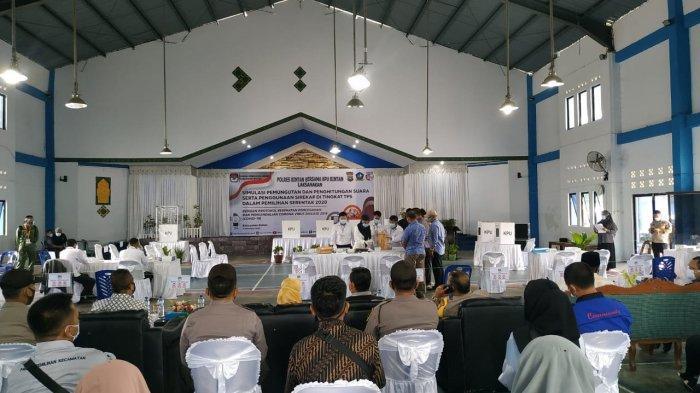 PILKADA BINTAN - Suasana Simulasi Pilkada Bintan, Sabtu (21/11).