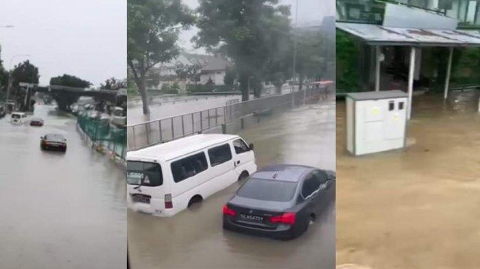 Banjir di Singapura Setelah Diguyur Hujan Deras Sejak Selasa (23/6) Pagi, Lihat Foto-fotonya