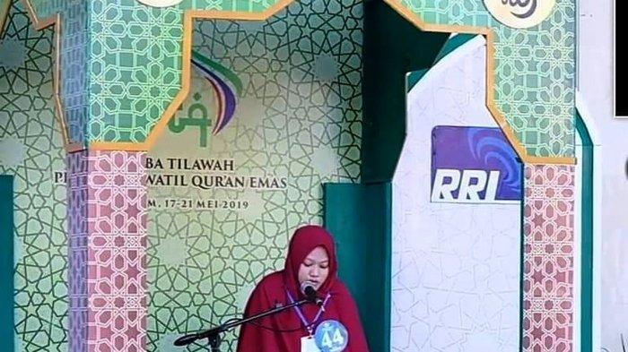 Sisca Wulandarisaat mengikuti event RRI MTQ Nasional mewakili Kepri, di Mataram, Nusa Tenggara Barat (NTB) pada tahun 2019.