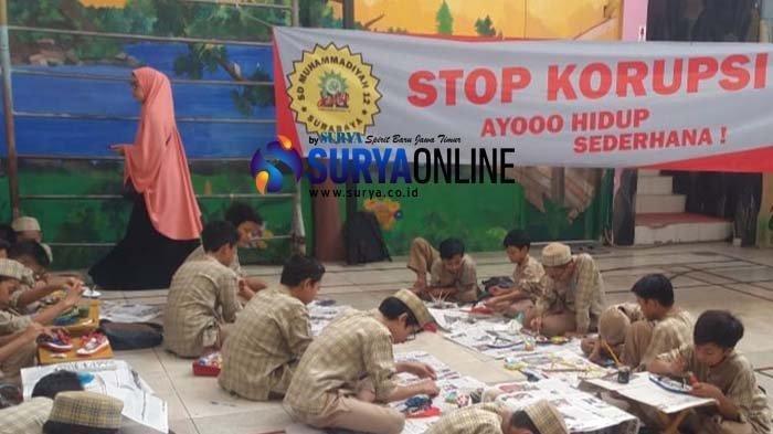 Kenalkan Anak Bahaya Korupsi Sejak Dini, Ini yang Dilakukan SD Muhammadiyah 12 Surabaya