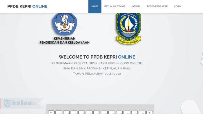 LINK PPDB 2019 Kepri, Lengkap Buku Pedoman, Video Tutorial dan Posko PPDB di Setiap Kabupaten/Kota