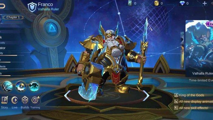 Skin Terbaru Hero Franco Role Tank Mobile Legends, Mirip Karakter Ayah Thor Avengers