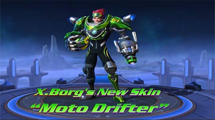 Skin Terbaru Moto Drifter untuk Hero X.Borg Mobile Legends, Ini Efek dan Tanggal Rilisnya